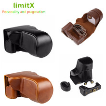 LimitX PU Leather Camera bag case cover Harde Zakken Voor Fujifilm X A5 XA5 X A20 XA20 15 45mm lens digitale Camera
