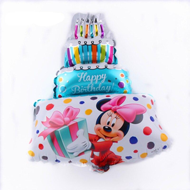 Все манеры Микки Минни воздушные шары на день рождения надувные декорации для вечеринки воздушные шары Детские Классические игрушки мультфильм шляпа - Цвет: 21