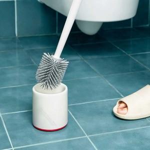 Image 5 - Youpin YJ Vertikale Lagerung Wc Pinsel Weichen Kleber Borsten Wc Pinsel und Halterung Set Bad Wc Reinigung Werkzeug