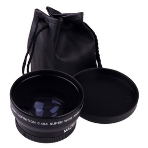 "Image 2 - 49 מ""מ 0.45X זווית רחבה מאקרו Fisheye עדשת צילום סופר מאקרו עבור Canon NIKON Sony PENTAX המצלמה SLR DSLR 49 מ""מ חוט עדשה"
