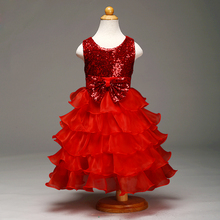 2017 New High Quality Princess Dresses For Children Wedding party Clothing Ball Gown Girls Clothes Kids Party Dresses Summer