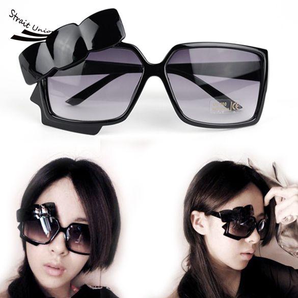 8837ca915b Women Girls Dot Bowknot Black Sunglasses Stylish Super Star Pattern Goggles  Glasses 59F