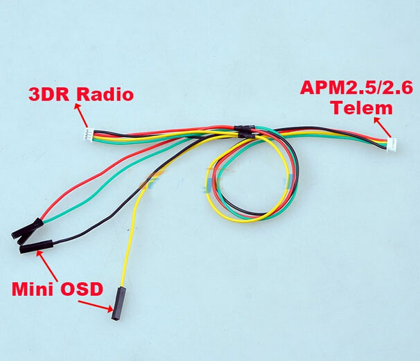 APM 2 5/ 2 6 connect to 3DR Telemetry Radio/ OSD Y type cable Telemetry /  OSD Y-cable Flight Controller 2pcs/lot