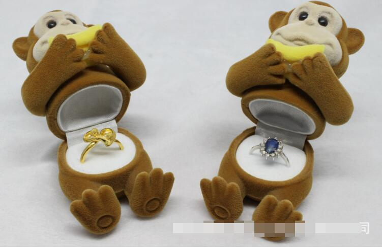 Adroit 20pcs/lot Free Shipping Cute Monkey Design Jewelry Storage Holder Monkey Ring Earring Pendant Oragnizer Jewelry Gift Sales Of Quality Assurance Beads & Jewelry Making Jewelry Packaging & Display