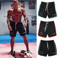 Mens Summer Style Gyms Fitness Bodybuilding Shorts Sporting Fashion Leisure Quick Dry Breathable Cool Brand Short