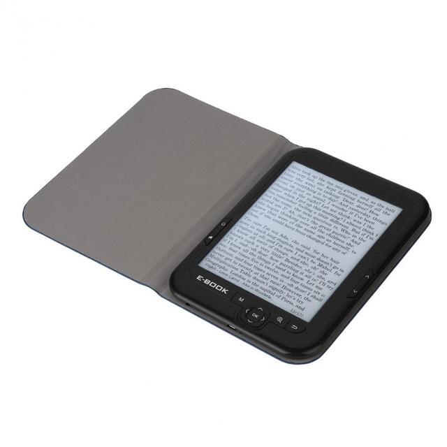 6 pulgadas Mp3 jugador de tinta electrónica digital de lector de pantalla ebook incorporada de 8 GB/16G rom y SD tarjeta (Max 64 GB) ebook gratis caso