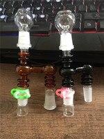 أحدث الملونة الزجاج التدخين محول 14.4 ملليمتر 18.8 ملليمتر سميكة الذكور الإناث الزجاج استصلاح الرماد الماسك محول مشترك مشترك
