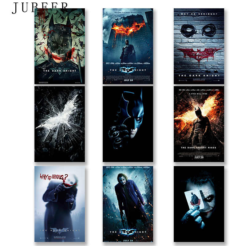 "Joker Batman The Dark Knight 12x18 24x36"" Silk Superheroes Movie Posters Art Prints Wall Pictures for Living Room Decor"
