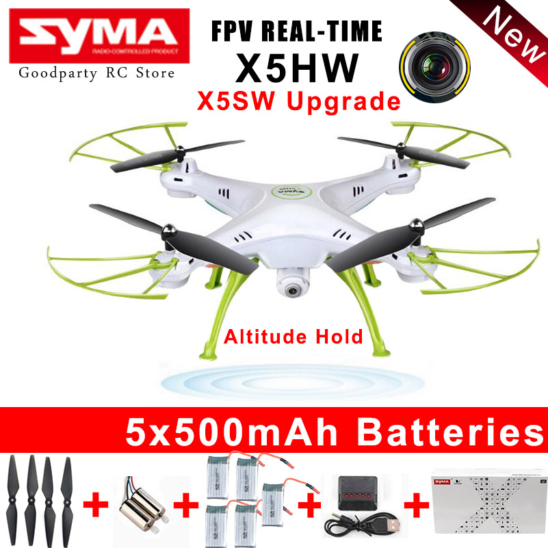 SYMA Drone With Camera HD Wifi FPV Selfie drones Quadrocopter RC Helicopter Quadcopter RC Dron Toy X5HW X5SW Upgrade
