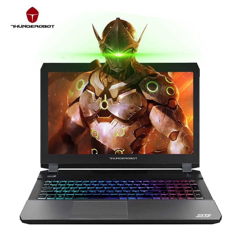 ThundeRobot ST-Pro Игровый Ноутбук Портативный Компьютер15.6 дюймов IPS FHD 1920*1080 GTX1060 7700HQ Intel Core i7 CPU 16 ГБ ПЗУ 512 ГБ SSD Диск  RGB клавиатура с подсветкой