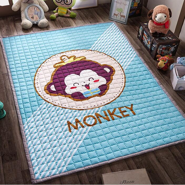 3 CM épaisseur salon tapis INS mode bébé jouer tapis épaississement de pliage 150X200 Cm le jeu couverture chambre tapis