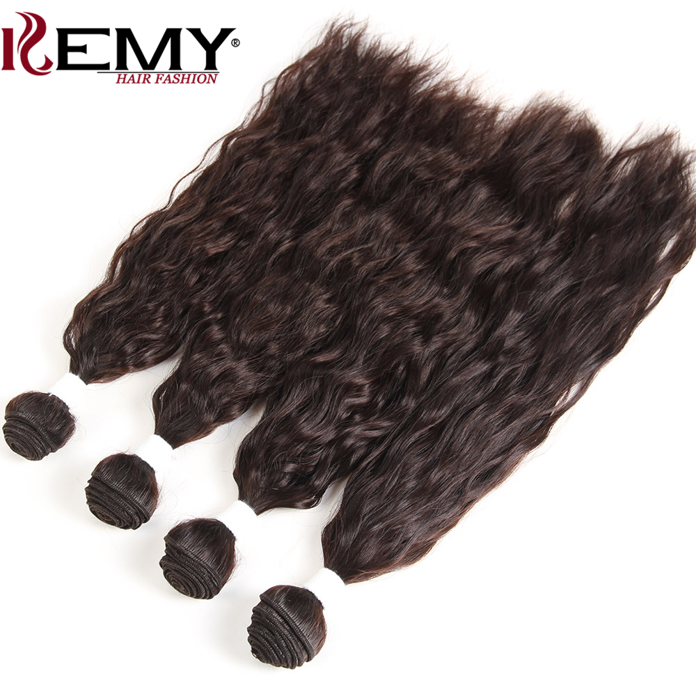 KEMY HAIR Natural Wave Synthetic Hair Weaving 16*2 18*2 4 Piece one Pack High Temperatur ...