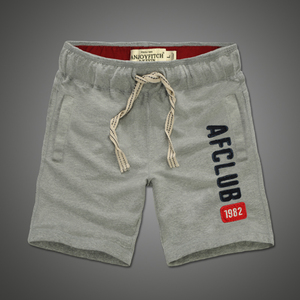 Image 2 - Shorts men 100% cotton Embroidery Casual keen length short masculino with pocket on side Drawstring