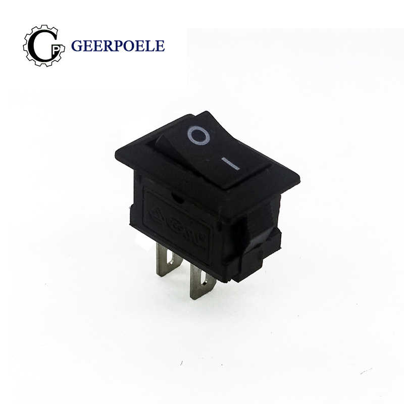 10 pcs/lot KCD1 15*10mm 2PIN Boat Rocker Switch SPST Snap-in on off Micro switch Position  3A/250V Mini