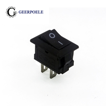 10 pcs/lot KCD1 15*10mm 2p Boat Rocker Switch SPST Snap-in on off Micro switch Position  3A/250V