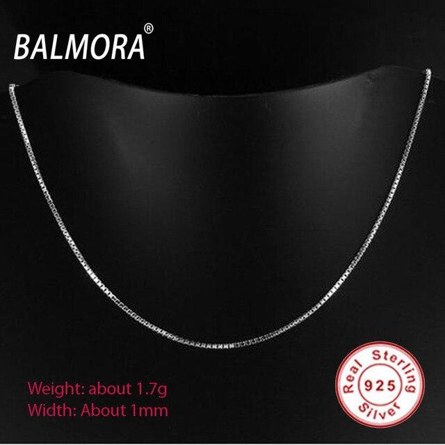 Новая Мода 100% Настоящее Стерлингового Серебра 925 Ювелирных Изделий Ожерелья Ожерелья около 45 см Серебро Тонкая Цепочка Женщины Ювелирные Изделия Подарки Бижутерии C003