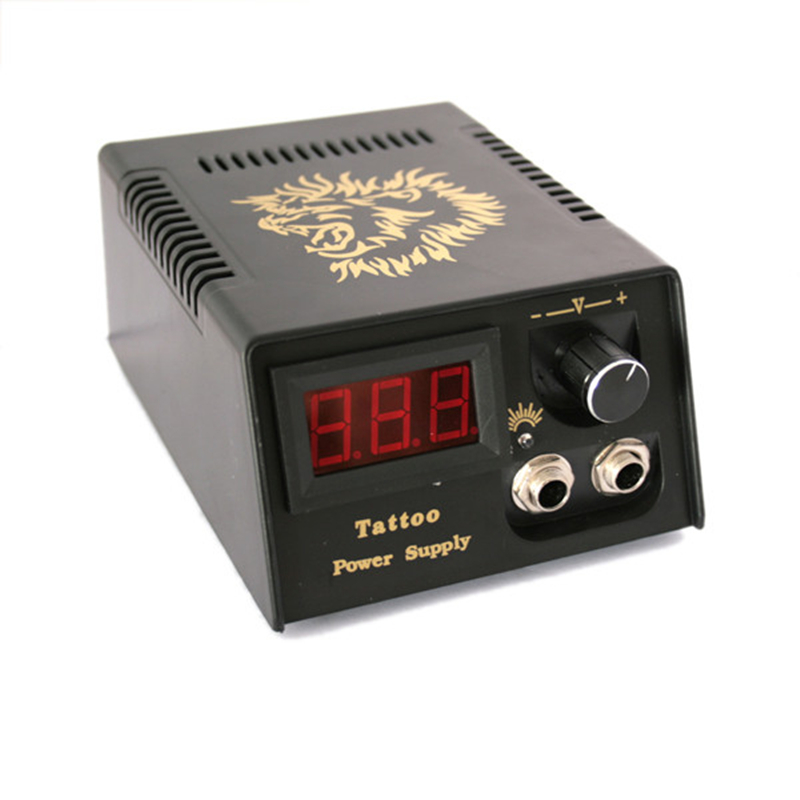 Golden Lion Digital Lcd Display Tattoo Power For Machine Gun Kit Set