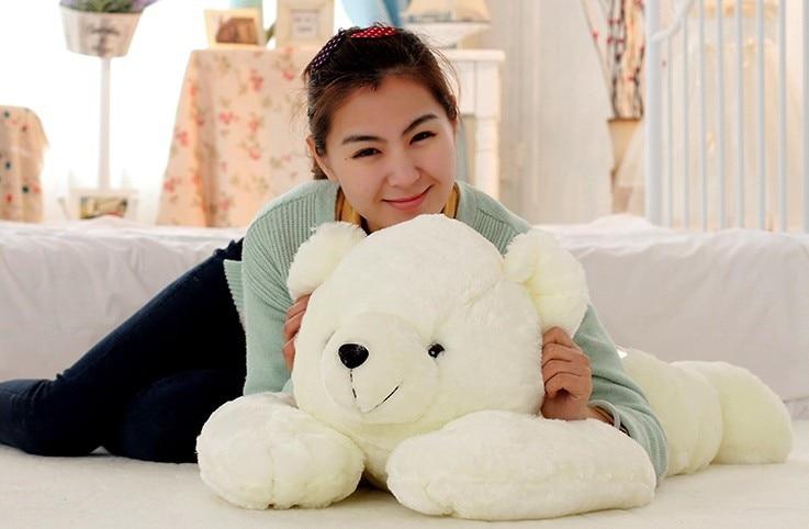 stuffed animal white polar bear plush toy about 90 cm prone polar bear  soft doll t6998 умные часы polar m600 white