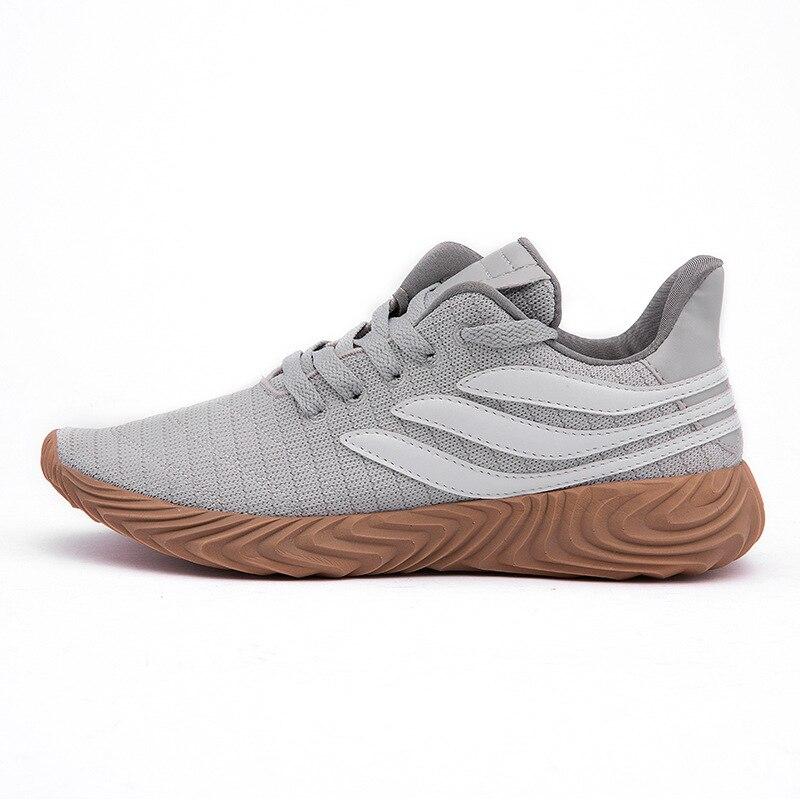 branco Fundo Lazer Sapatos Primavera Macio De prova Com Esportes Moda Slip cinza Preto Nova U4qfCR