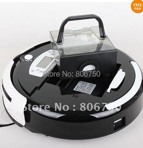 Good News Free Shipping And More 1pc Side Brush and 1pc Mop For Black Color Auto UV cleaner With Mop function and Virtual Wall