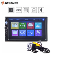 TOPSOURCE 7010B General 2 Din Car Radio MP5 7 Inch HD Touch Screen Audio Multimedia Player