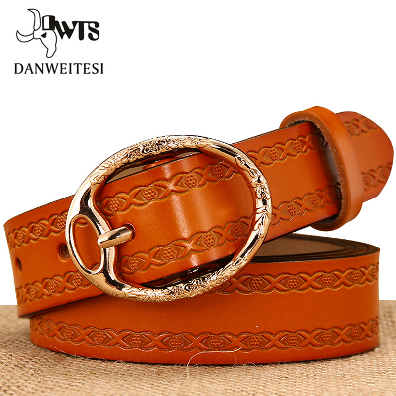 [DWTS]belt Female Genuine Leather Pin Buckle Belts For Women Designer Brand Luxury Women Ceinture Femme Cinturon Mujer