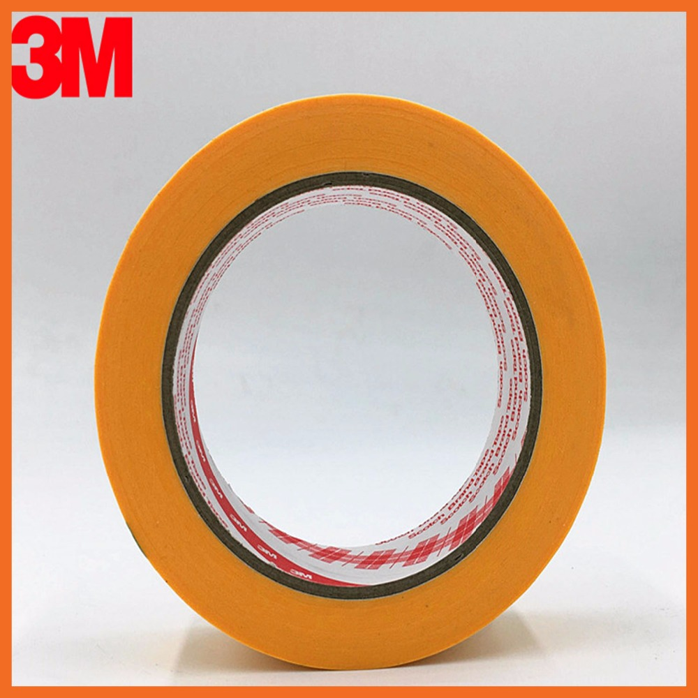 3M244 High Temperature Resistant Adhesive Masking Tape Good For Car Paint Masking 40mmx164ft heat resistant high temperature masking adhesive tape 19mm 50m 290 c