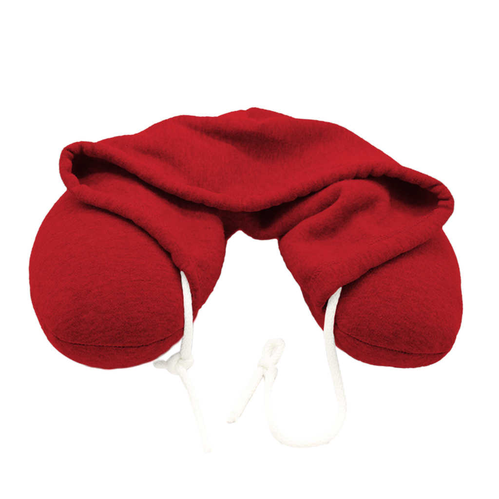 4 Warna Tersedia, U Berbentuk Leher Berkerudung Bantal Pesawat Mobil Perjalanan Headrest dengan Drawstrings