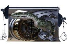Fondo de dinosaurio rompe el fondo de la fotografía de la época Jurásico del tesoro