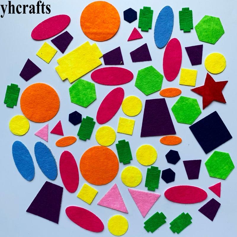 1bag(30-50PCS). Irregular Shape Felt Stickers Fabric Crafts Early Learning Educational Toys Self Learning Kindergarten Crafts