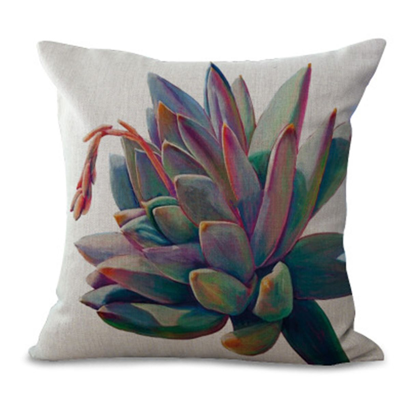 Cactus Pillow Cover Green Leaves Cushion Cover Plant Pillow Case for Sofa Home Decoration Pillowcase