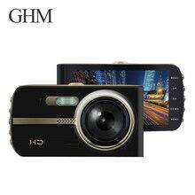 Pantalla Hd 1080 p doble lente coche Dvr coche cámara grabadora 32g visión nocturna grabadora portátil G sensor cámara del salpicadero del coche del vídeo