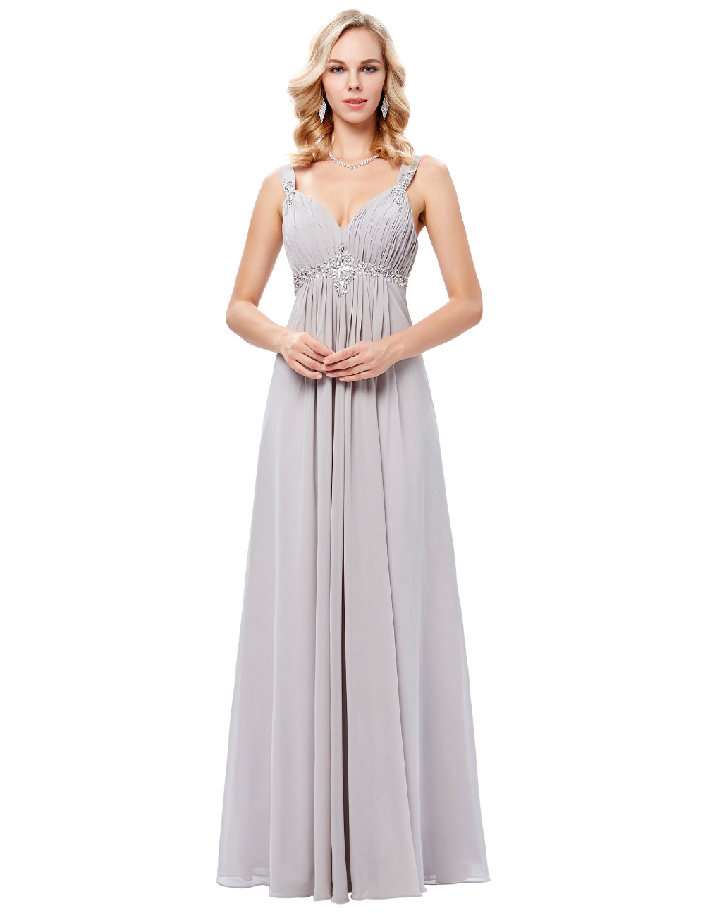 HTB1Xw.xOFXXXXbjXXXXq6xXFXXXKLong Formal Dress Elegant Floor Length Chiffon Dress