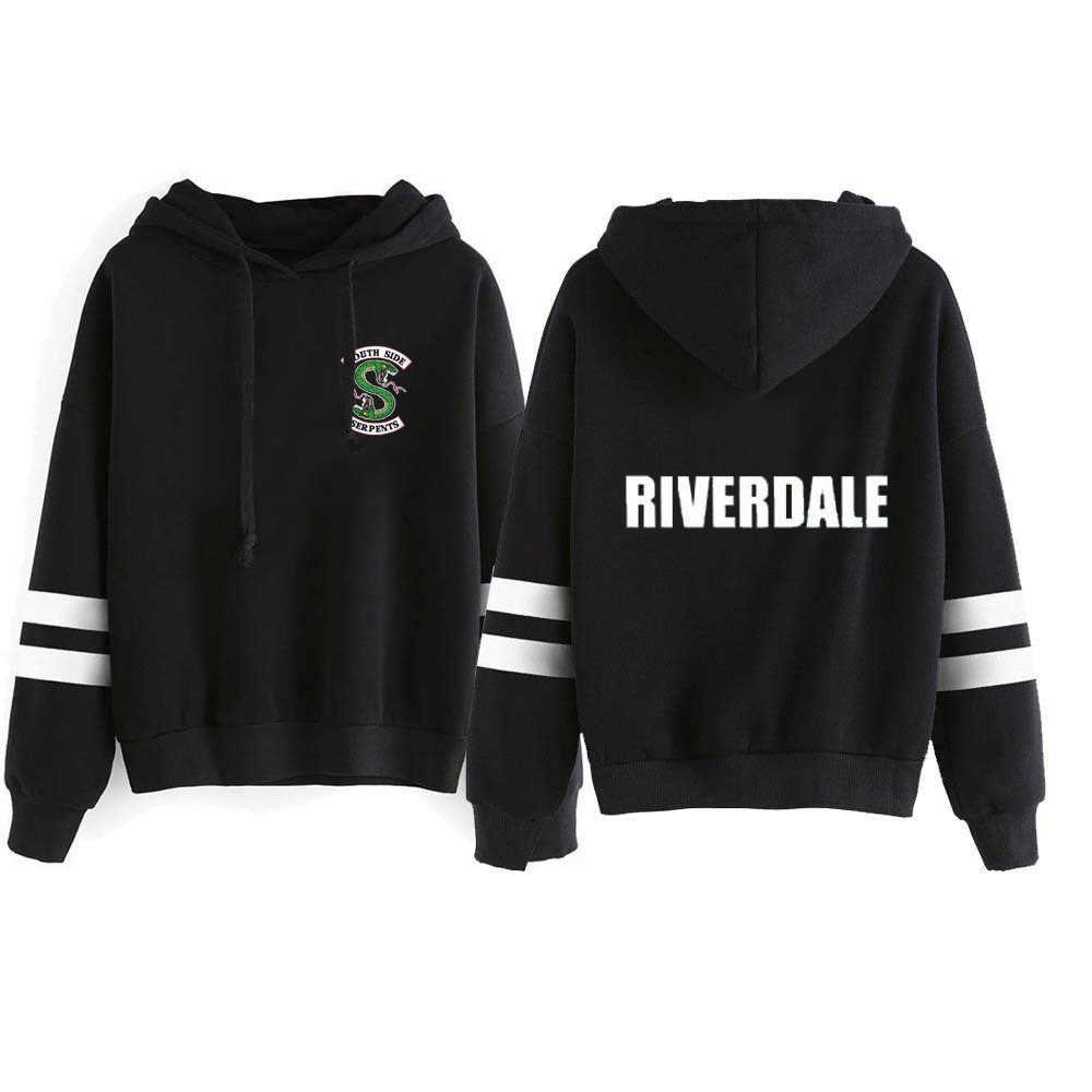 New Fashion Riverdale Hoodie Sweatshirts South Side Serpents Streetwear Tops Spring Hoodies Female Hooded Harajuku Kawaii Tops