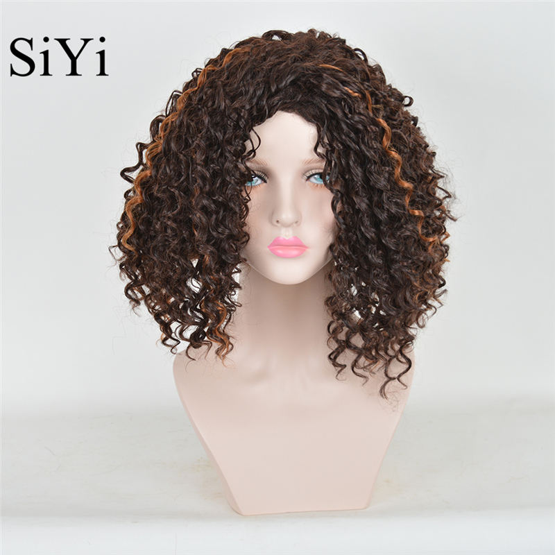 Brown Curly Wig Cheap 103