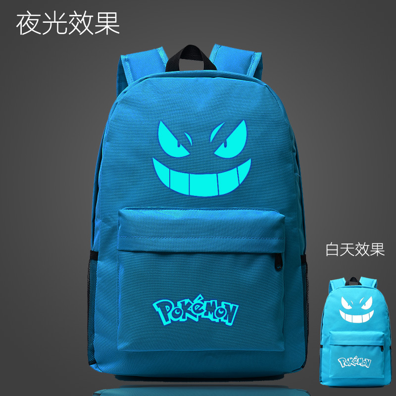 Pokemon Go Pokemon Anime Print Casual Luminous Travel School Bag Oxford Backpack