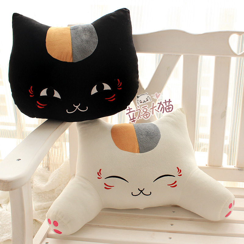 Hot Sell Office Cute White And Black Cat Pattern Lumbar Car Waist