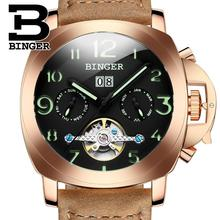2016 Switzerland luxury men's watch BINGER brand Mechanical Wristwatches multifunctional military Stop clock B1169-3