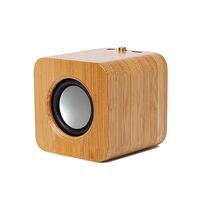 Portable Mini Bluetooth Speaker Bamboo Wireless Handsfree Speakers for MP4 Phone Tablet PC @JH