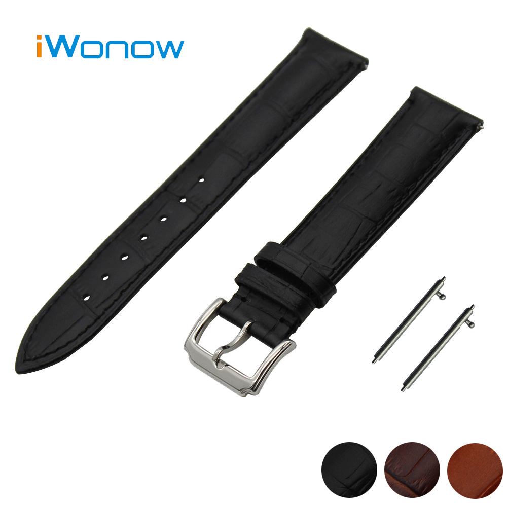 Genuine Leather Watch Band 22mm Asus ZenWatch 1 2 Men WI500Q WI501Q Pin Buckle Strap Quick Release Wrist Belt Bracelet  -  Udemand Tech Limited store
