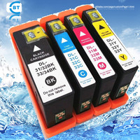 4pcs Compatible dell 31 32 33 ink cartridge for V525w/Dell V725w printer