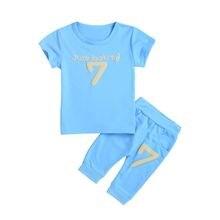 Комплект одежды для новорожденных мальчиков топ с буквенным