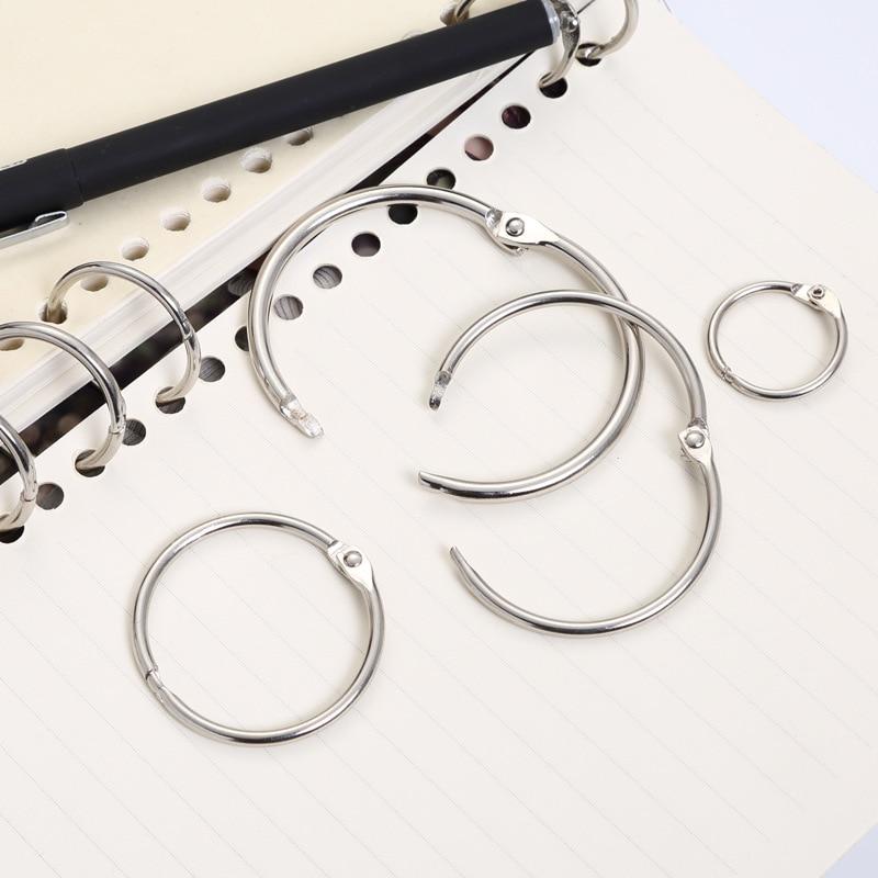 Office Binding Supplies Search For Flights Practical Notebook Loose Leaf Binder 3-ring Gold Silver Loose-leaf Metal Split Hinged Rings Scrapbooking Binder Album Calendar