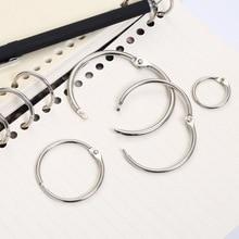 Keychain Hinged-Ring Ring-Binder Circle Loose Scrapbook Leaf Metal 5pcs Desk-Calendar