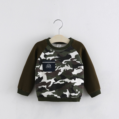 Kids Camouflage T Shirt Full Sleeve Baby Boys Girls sweatshirt Children Pullovers Tops Tee Boys Clothes Autumn Winter Cotton ...