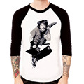 foo Fighters New Men's Plain BaseBall Graphic Long Sleeve Raglan T-shirts Wholesale