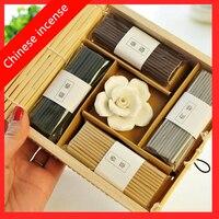 Китайский Ладан Винтаж Шторы Роза Ладан stick медитации помочь вам спать аромат свежего воздуха ароматерапия Бесплатная доставка
