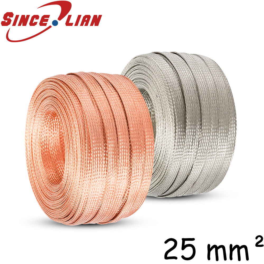 1m 3.3ft 15mm Flat Pure Copper Braid Mayitr High Flexibility Cable ...