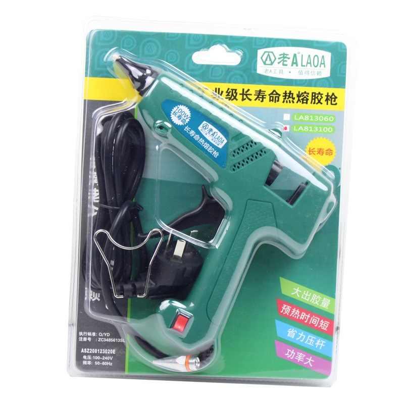 Laoa 25W/100W SÚNG BẮN KEO Pistolet Một Colle Mini Cho Kim Loại Làm Việc Gỗ Dán Giấy kẹp Tóc PU Hoa Với Phích Cắm Châu Âu