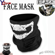 Warm winterMotorcycle Skull Ghost Face Windproof Mask Outdoor Sports Warm Ski Caps Bicycle Bike Scarf Waterproof cycling protect 3 colors outdoor warm ski mask half face mask cycling breathable face mask for cycling riding outdoor sport mask